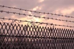Cerca de segurança no inverno Fotografia de Stock Royalty Free