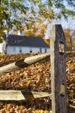 Cerca de trilho rachado, Essex, Connecticut Imagem de Stock