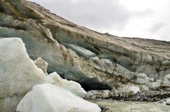cerca de un glaciar Fotografía de archivo libre de regalías