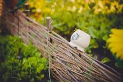 Cerca de vime no jardim do verão Imagem de Stock