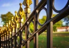 Cerca decorativa do ferro fundido Imagem de Stock Royalty Free