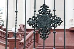 Cerca decorativa do metal Imagem de Stock