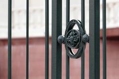 Cerca decorativa do metal Imagem de Stock Royalty Free