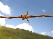 Cerca del alambre de púas Fotografía de archivo