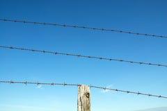 Cerca 3 del alambre de púas Imagen de archivo