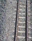Cerca del ferrocarril con las rocas Fotos de archivo libres de regalías