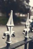 Cerca del hierro labrado Foto de archivo