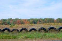 Cerca del neumático Foto de archivo libre de regalías