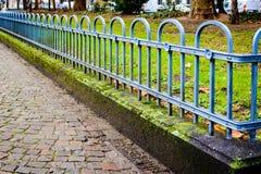 Cerca cerca del parque verde Imagen de archivo
