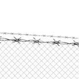 Cerca do arame farpado ilustração stock
