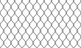 Cerca do elo de corrente ou fundo do teste padrão da rede de arame ilustração do vetor