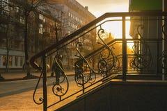 Cerca do ferro na rua Fotografia de Stock