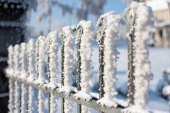 Cerca do gelo do vento Imagens de Stock