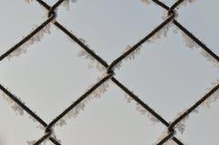 Cerca do metal com neve Foto de Stock