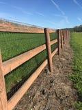 Cerca do rancho da estrada secundária Fotografia de Stock Royalty Free