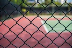 Cerca dos campos de tênis Imagem de Stock Royalty Free