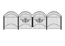 Cerca e porta do Victorian Imagem de Stock Royalty Free