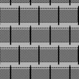 Cerca el modelo inconsútil Cerca de límite con alambre de púas Orname ilustración del vector