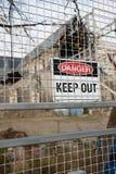 Cerca em torno dos ruinas da catedral de Christchurch Foto de Stock Royalty Free