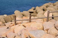 Cerca en la costa de mar Imagen de archivo libre de regalías