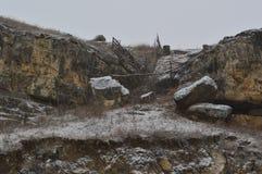 Cerca en las montañas fotografía de archivo