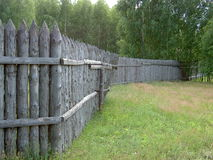 a cerca feita da madeira Fotografia de Stock