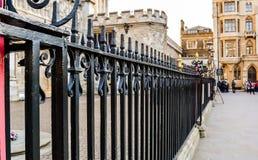 Cerca fuera de la abadía de Westminster Imagen de archivo