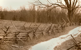 Cerca Line de Gettysburg Fotos de archivo