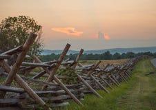 Cerca Line de Gettysburg imagenes de archivo