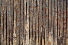 Cerca marrom velha de madeira Imagens de Stock