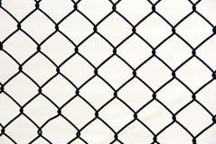 Cerca metálica da ligação chain do fio imagens de stock