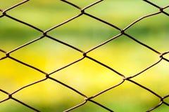 Cerca Metallic Rusty Net Security Wire Fotografía de archivo libre de regalías