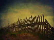 Cerca na vila dos zombis fotografia de stock