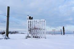 Cerca nevada Foto de archivo