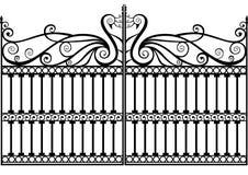 Cerca ou porta do ferro feito ilustração do vetor