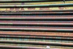 Cerca oxidada da beira Imagem de Stock Royalty Free