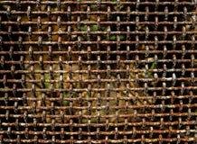 Cerca oxidada vieja Fotografía de archivo