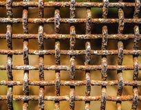 Cerca oxidada vieja Imagenes de archivo