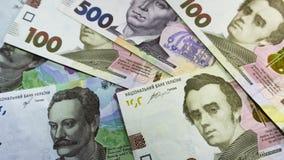 Cerca para arriba compita del dinero ucraniano 100, el grivnia 500 para el diseño y los proyectos creativos imagenes de archivo