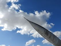 Cerca - para arriba del viejo avión del motor y de propulsor fotografía de archivo