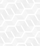 cerca perforada diagonal rayada blanca 3D Imágenes de archivo libres de regalías