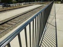 Cerca Perspective da estrada de ferro Imagens de Stock Royalty Free