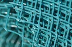 Cerca plástica verde Foto de archivo libre de regalías