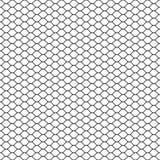 Cerca prendida Cerca da ligação Chain Rede dos peixes Teste padrão sem emenda líquido Silhueta líquida do vetor da corda Rede da  ilustração royalty free