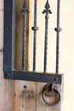 Cerca preta do metal do ferro imagem de stock