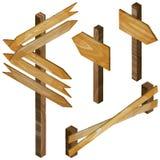 Cerca, quadros indicadores de madeira, sinal da seta Fotos de Stock