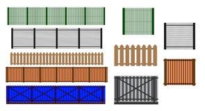 Cerca Set Projetos diferentes da ilustra??o das cercas e das paredes ilustração stock