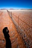 Cerca sin fin de la granja Fotografía de archivo libre de regalías
