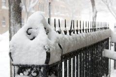Cerca sob a neve foto de stock royalty free