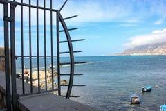 Cerca tachonada en Trapan, Sicilia foto de archivo libre de regalías